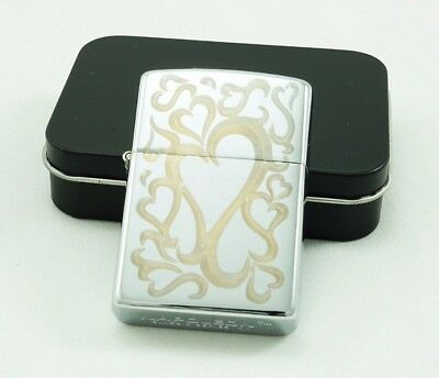 TADDI Oil Refillable Flip Top Pocket Windproof Metal Lighter Multiple Love Heart