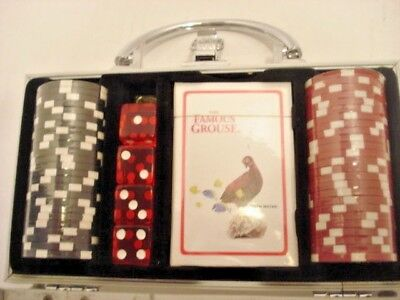Metal Case Poker Set Grouse Famous New Still Sealed See through Front