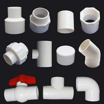 PVC Pipe Connectors Ball Valve/End Cap/90° Elbow/Tee Pipe Adapter 20/25/32mm