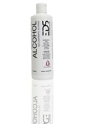 EDS Isopropyl 99.9% Alcohol For Professional Use Only (500ml/16.9oz)