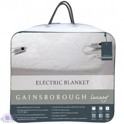 Gainsborough Luxury Fitted Electric Blanket | LED Power Indicator | Queen