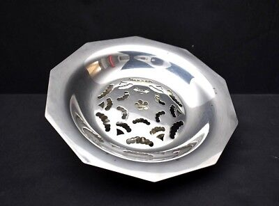 French Art Deco Silverplated Coquillor Butter Press / Dish Beurrier
