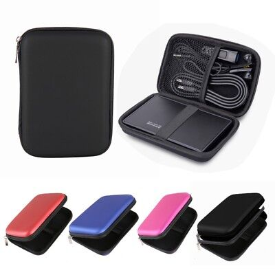"Durable Hard Pouch Carrying Case Bag for 2.5"" inch Portable External Hard Drive"