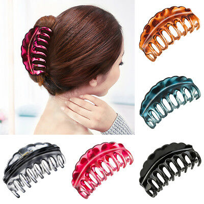 Simple Solid Large Hair Claw Clip Bathroom Updo Decor Headwear Accessories Great