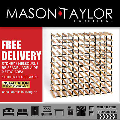 Mason Taylor 110 Bottle Timber Wine Rack  Local Storage