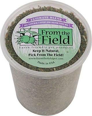 From The Field Ultimate Blend Silver Vine/Catnip Mix Tub, 3.5 oz/Large