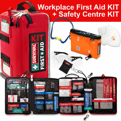 SURVIVAL Workplace First Aid KIT + Safety Centre KIT - Nationally WHS Compliant