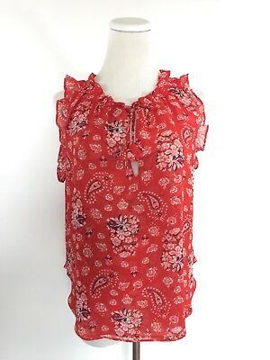 a86c2285f498ba MISA Los Angeles Shirt Top Blouse Size M Floral Paisley Made in USA NWOT