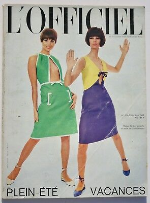 60s vintage L'Officiel French fashion couture swimwear lingerie Courreges 1965