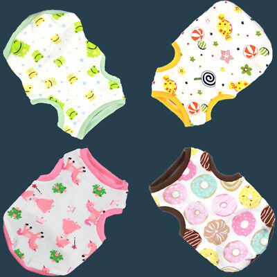 Small Pet Dog Puppy Clothes Cartoon Printed Vest Cotton T-Shirt Breathable