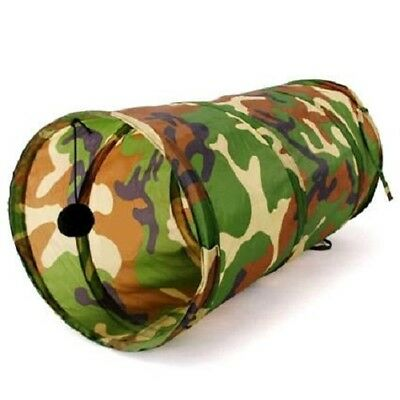 Cat Kitten Rabbit Pop Up Play Tunnel with Balls, Camouflage