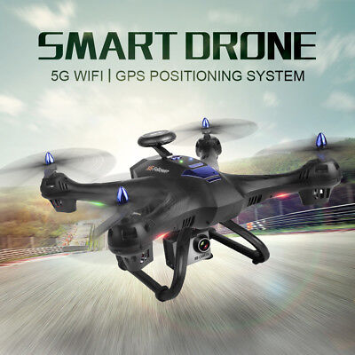 5G 1080P Wifi FPV HD Camera Dual GPS Drone LED Follow Me RC Quadcopter