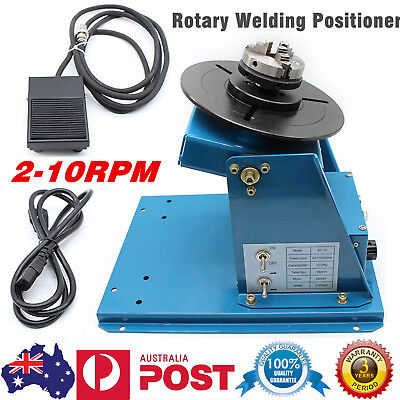 2-10RPM Rotary Welding Positioner Turntable Table Rotation Tilt 3Jaw Lathe Chuck