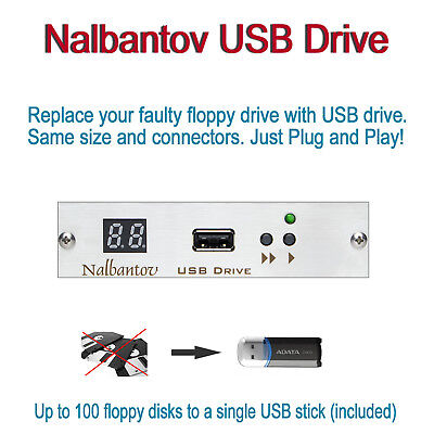 Nalbantov USB Floppy Disk Drive Emulator for AKAI S1100 ~ OS included ~
