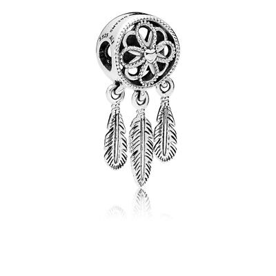 Genuine Pandora Charm Bead Spiritual Dream catcher Dreamcatcher Feather 797200