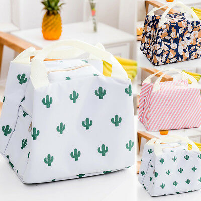Insulated Cool Bag Lunch Box Travel Picnic Thermal Food Drink Cooler Wipe Clean