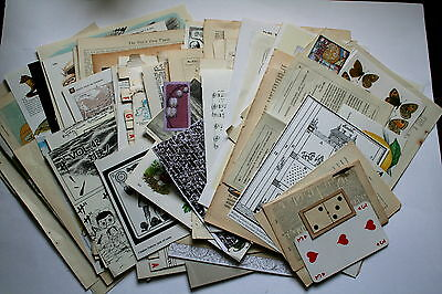 NEW  Collage paper pack,  100 pc,collage papers, for artwork, cards, et,