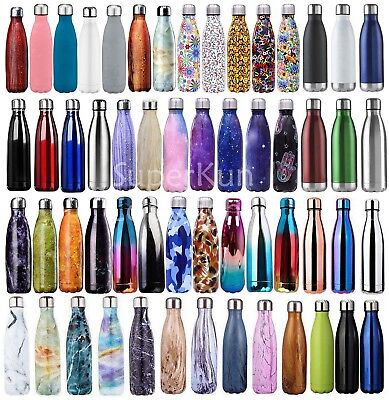 WOW ! Double Walled Vacuum Insulated Stainless Steel Water Drinks Sport Bottle