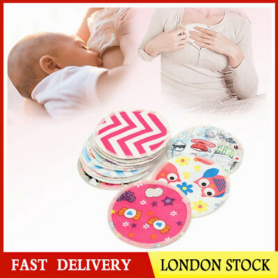 12x Reusable Bamboo Baby Feeding Breast Pads Washable Nursing Mom Breastfeeding