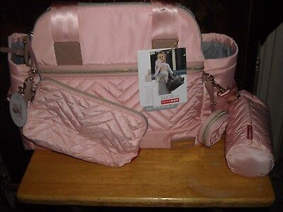 Skip Hop Suite 6 in 1 diaper bag blush pink new with tags