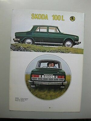 Skoda 100L brochure Prospekt Dutch text 8 pages 1971