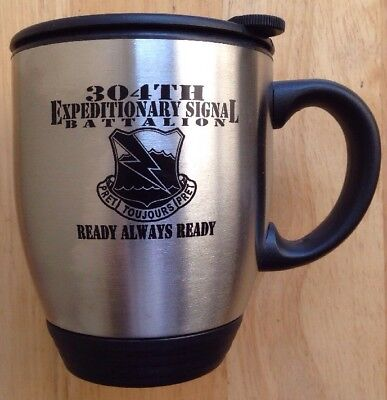 Us Army 304Th Expeditionary Signal Battalion Coffee Mug, Korea, Stainless, New