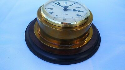 Nautical Brass Marine Boat Ship Robert Blandford 1873 Wall Clock West Germany