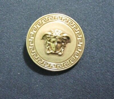 """GIANNI VERSACE MEDUSA HEAD GOLD METAL BUTTON Approximately 1//2/"""" 13MM"""