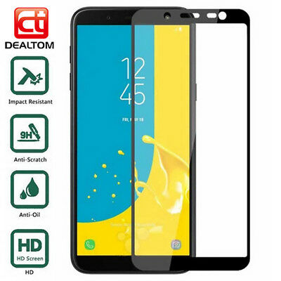 Full Cover Tempered Glass Screen Protector For Samsung Galaxy J4 J5 J6 J8 Plus