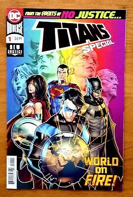 """Titans Special # 1 Cover A """" New Justice """" 1st Print DC 2018 VF"""