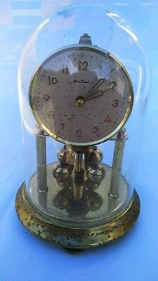Vintage Bentima 400 day Dome Brass Anniversary Mantel Mechanical Wind Up Clock