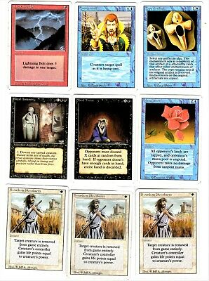 """Magic The Gathering Revised Edition set (C) of 9 Cards """"2019 Sale"""""""