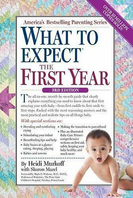 WHAT TO EXPECT THE FIRST YEAR by Heidi Murkoff FREE SHIPPING paperback book 1st