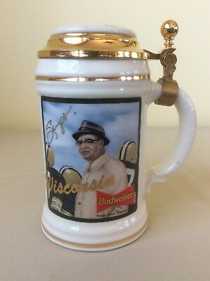 Budweiser Wisconsin Vince Lombardi Stein; N4249; Signed By Artist