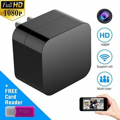 1080P Mini WIFI Hidden Camera USB Wall Charger Wireless Recorder Camcorder Motio