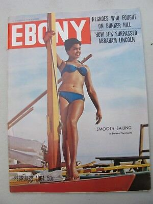 Ebony Magazine February 1964 Model Janie Burdette cover