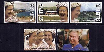 St. Kitts 1992 40th Anniversary of Accession set fine fresh MNH