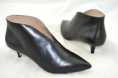 eea4c24db8273 Pour La Victoire  Kora  Women s Black Leather Kitten Heel Bootie Size 8 M  38.5