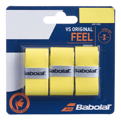 Babolat VS Grip Original Overgrip Tennis - Pack of 3 - Yellow - Free UK P&P