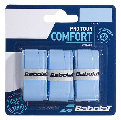 Babolat Pro Tour Overgrip Tennis grips - Pack of 3 - Blue - Free UK P&P