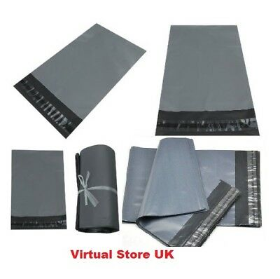 """500 BAGS 4.5"""" x 7"""" STRONG POLY MAILING POSTAGE POSTAL QUALITY SELF SEAL GREY UK"""