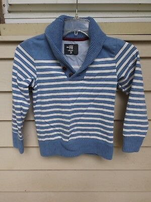 boys L.O.G.G. H and M Size 6-8 Years Blue/white Striped Sweater