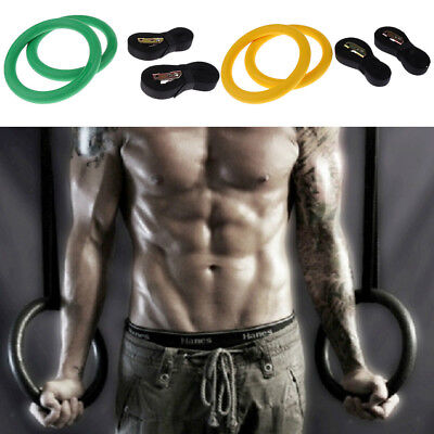 Adjustable Olympic Gymnastic Rings Gym Body Strength Fitness Training ABS