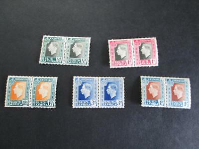 South Africa #74-78 Pair 1937 Mnh  Rs