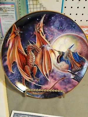 Royal Doulton Myles Pinkney Franklin Mint Moon Mystic Plate w/ C.O.A