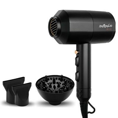 1200W Household Portable Thermostat Supersonic Hair Dryer Red Black