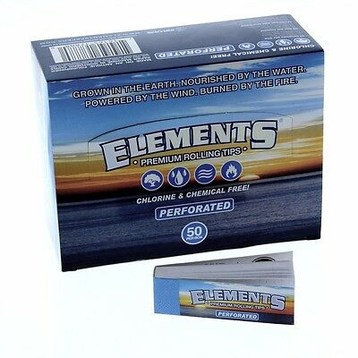 10 Pks Elements Perforated Rolling Paper Filter Tips For Size 1.25 King 1.0
