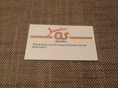 Red Rum Grand National / Junior A Question of Sport game card 1990 #44