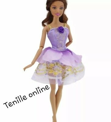 New clothes outfit fairy princess wedding gown dress purple fairytale for barbie