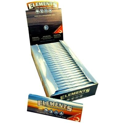 ELEMENTS PAPER ULTRA THIN RICE Rolling Papers 1 1/4 SIZE Full Box 25 Packs 1.25